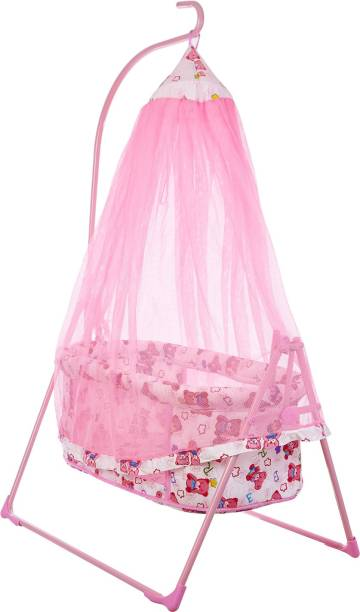 NHR Fun Baby Cozy Dreams New Born Baby Cradle/Baby jhula/Baby palna/Crib / Bassinet with Mosquito Net Bassinet