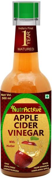 NutrActive 1 Year Matured Apple Cider Vinegar with Extra Mother 500 ML, |Better digestion Vinegar