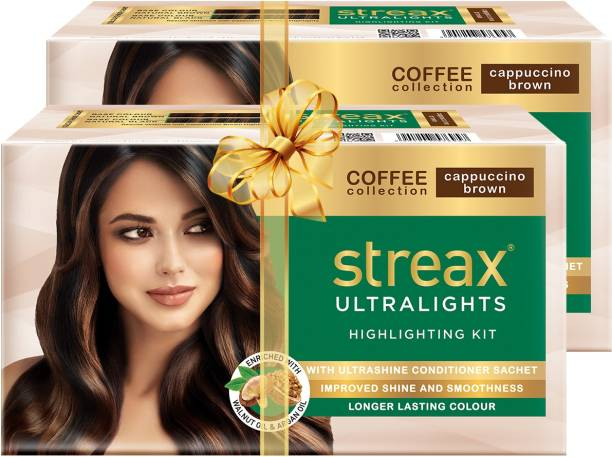 Streax Ultralights Highlighting Kit-Coffee Collection-Cappuccino Brown-Pack of 2 , Cappuccino Brown