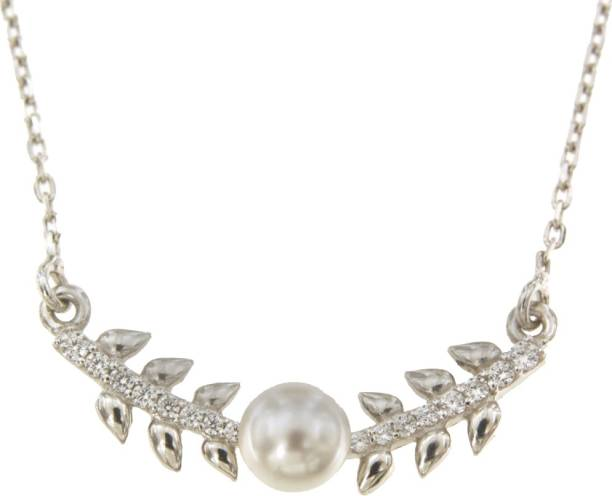 Carlton London S125781N Sterling Silver Plated Sterling Silver Necklace