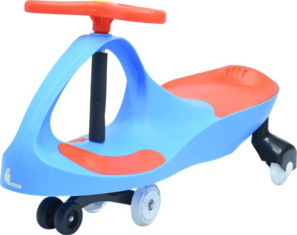 R for Rabbit Iya Iya - The Strongest and Smoothest Swing - Twister - Magic Car with PU Wheels (Blue Red) …