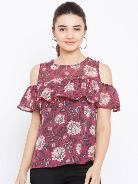 7bbb27a191e Maroon Tops - Buy Maroon Tops Online at Best Prices In India ...