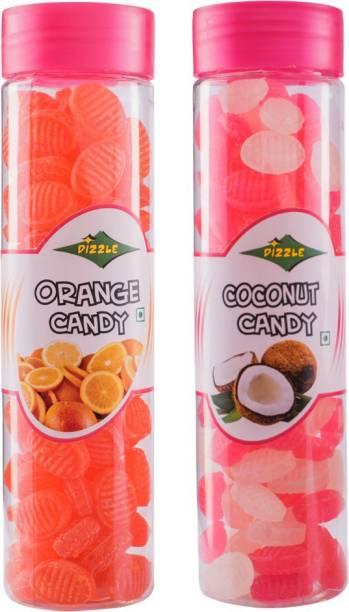 DIZZLE Orange Candy & Coconut Candy Coconut, Orange Toffee