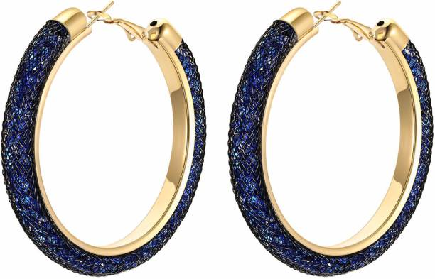 c0c5276a13fc Divastri Exclusive Crystal-Filled Stylish Fashion Hoops Earrings Crystal  Crystal Hoop Earring