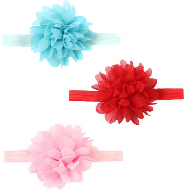 3c8132bff53 Babymoon (Set of 3) Headbands Flowers Soft Hairbands for Baby Girls Infants  Toddlers.