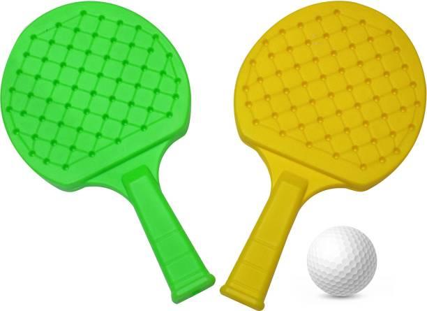 EKAN Kids Sports , Indoor & Outdoor Table Tennis Racket Set for Kids, Pack of 1 Green, Yellow Table Tennis Racquet