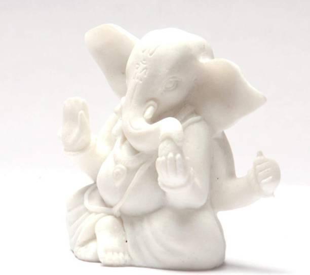 Lavanaya Silver Celebrationgift Siddh Ganesh Ji Spiritual Idols Decorative Puja / Vastu Showpiece Decorative Showpiece  -  3 cm