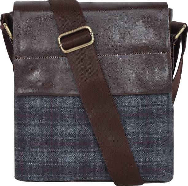22bd015c9662 BumBart collection Men   Women Casual Brown Fabric Messenger Bag