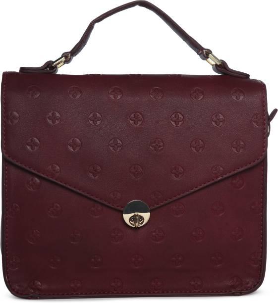 Allen Solly Women Casual Maroon PU Sling Bag