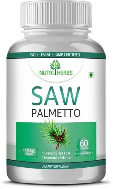 Nutriherbs Saw Palmetto Prevents Hair Loss & Hormones Balance 60 Capsules