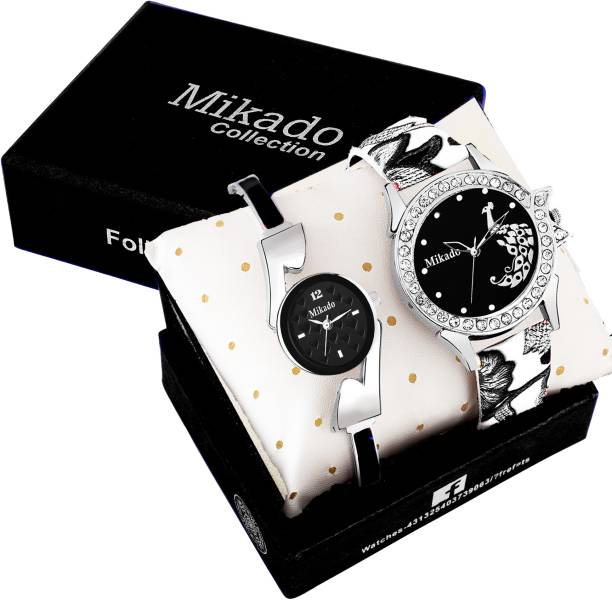 c2e62b4ac Mikado All Black Fashion Analog watch for Girls And Women Watch - For Girls