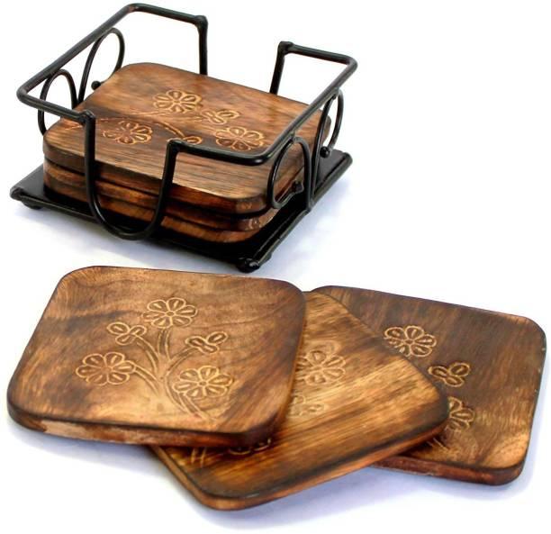 Worthy Shoppee Square Wood Coaster