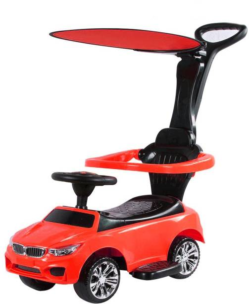 Toyhouse Benzy Push car with Long & Strong push handle for kids(2 to 6yrs) Car Non Battery Operated Ride On