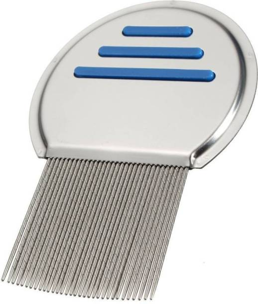Ni Hao Human and pets Long Bristles Lice Nit Comb Tool - Terminator Lice Comb Nit Hair Rid Headlice Superdensity Stainless Steel Metal Teeth Remove Nits Brush For Lice,Flea, and Tick Removal