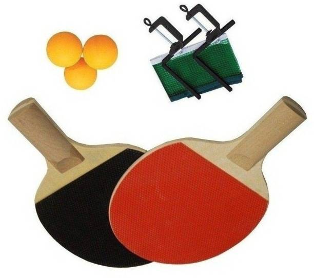 SPORTSHOLIC New Table Tennis Racquet Kit Set With Net, Clumps And 3 Balls For Kids 5 To 8 Years Table Tennis Kit