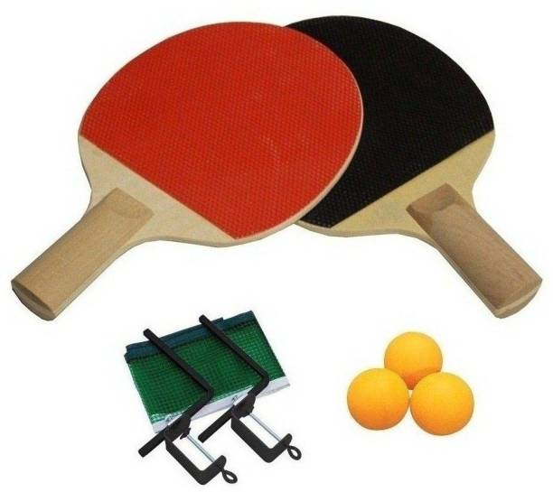 SPORTSHOLIC Table Tennis Bat Set With Net, Clumps And 3 Balls For Kids 5 To 8 Years Table Tennis Kit
