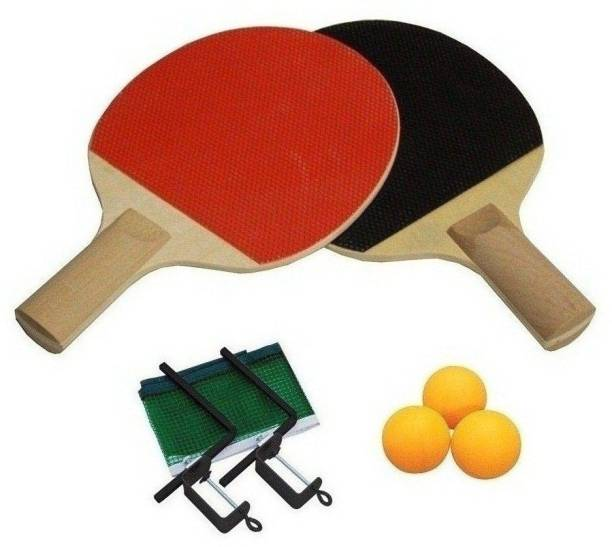 SPORTSHOLIC Table Tennis Racquet Kit With Net, Polls And 3 Balls For Kids 5 To 8 Years Table Tennis Kit