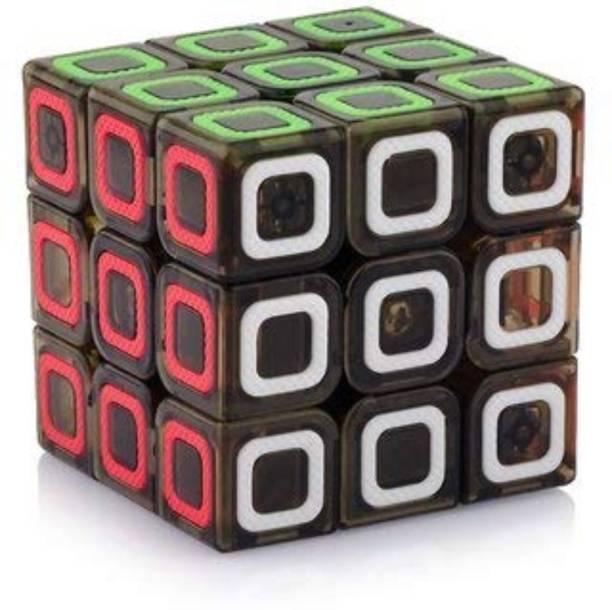 Smartcraft Black Base Stickerless Transparent Cube (3x3 Stylish Cube)