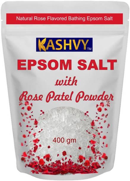 Kashvy Epsom Salt With Rose Petels Powder