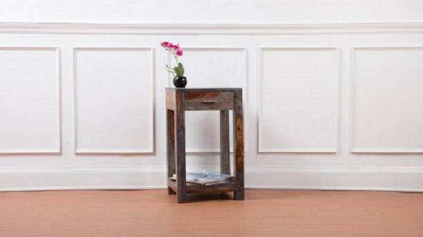 pipercrafts Sheesham Wood Solid Wood Bedside Table