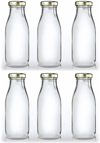 CRAZYINK Hygienic Air Tight Italian Glass Water Bottle, Milk Bottle, Juice Bottle 500 ml Bottle