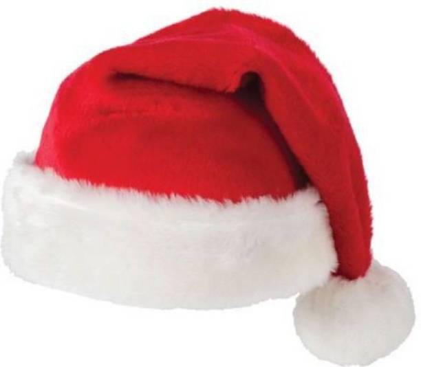 9cc56b167 ME&YOU Solid Christmas Hats, Santa Claus Caps for Kids and Adults, Free  Size,