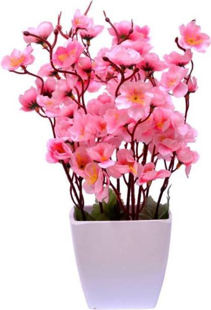 uc Pink Orchids Artificial Flower  with Pot