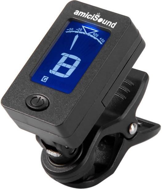 62fadaeb777 amiciSound Digital LCD Display Automatic Clip-On Tuner for Chromatic Guitar  Bass