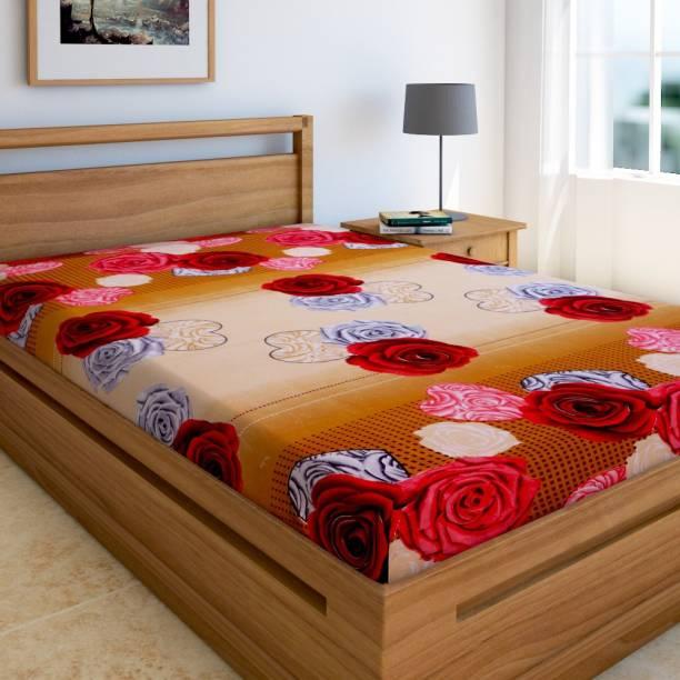 Home Elite 144 TC Microfiber Single Floral Bedsheet