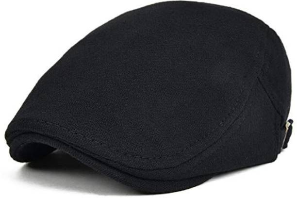 fd5e975fb1afe DALUCI Men s Cotton Flat Ivy Gatsby Newsboy Driving Hat - Black Cap Cap