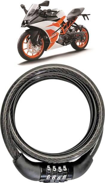 AutoKraftZ Plastic, Steel Combination Lock For Helmet