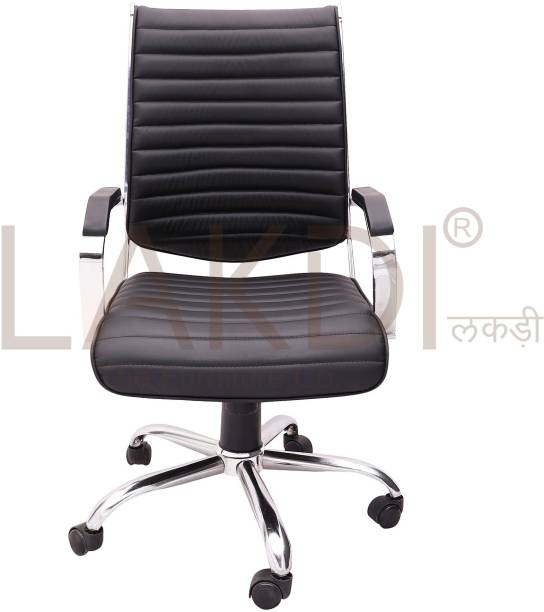 5b4ac33945f Lakdi - The Furniture Co. fully Cushioned Ergonomic Executive Chair for  offices Leatherette Office Executive