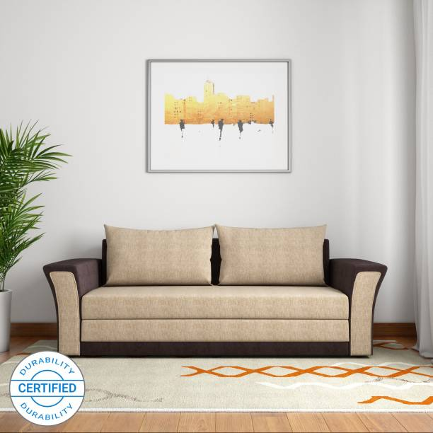 Bharat Lifestyle Leo Double Solid Wood Sofa Bed