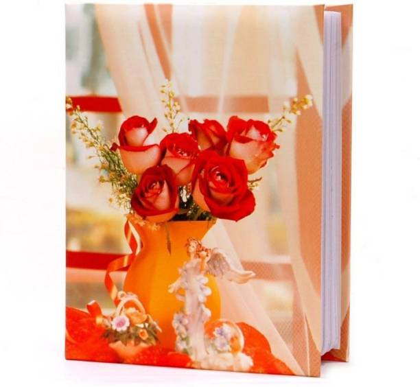 Natraj Slip In Photo Album with 0.6mm Thick Extra Clear PVC Film, 100 Pocket, (Photo Size Supported: 5'x7') Album