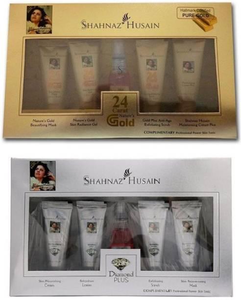Shahnaz Husain gold + diamond facial kit- Combo Pack