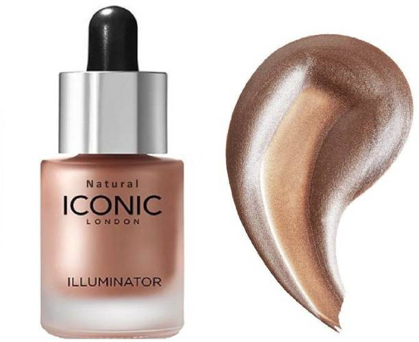 Natural Iconic Illuminator Ultra Smooth Shine Waterproof Face And Body Highlighter 3D glow shine for medium to wheatish skin Highlighter