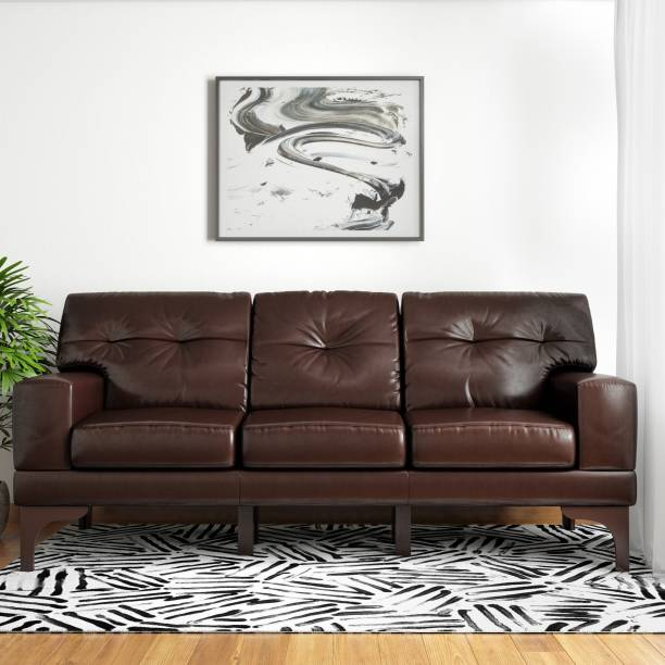 Now Living Eastwood Leather 3 Seater Sofa