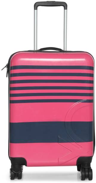 8844360661e United Colors of Benetton TECHNOLOGY STROLLY CABIN PINK Cabin Luggage - 20  inch