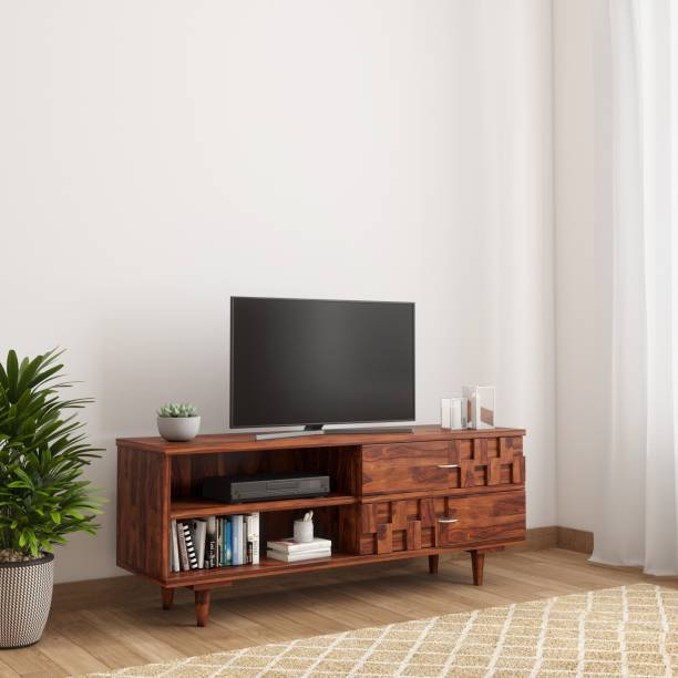 TimberTaste SHALU Sheesham Solid Wood TV Entertainment Unit