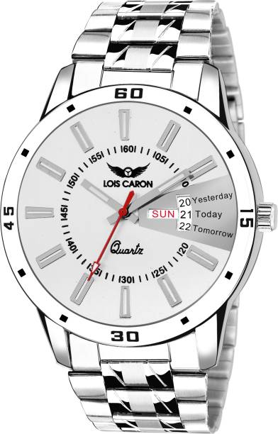 7d3c645a51c Lois Caron LCS-8064 SILVER DIAL DAY AND DATE FUNCTIONING Watch - For Men