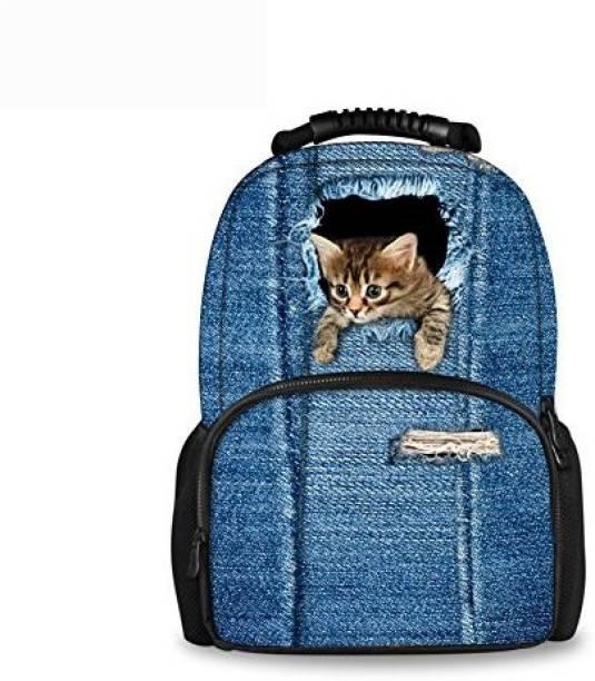 Chaqlin CHAQLIN Kawaii Kitty Cat Printing Backpack for Childrens 5 L  Backpack fd0ac71f36d4b