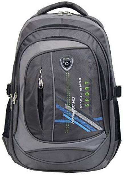 6aba2bebaf Zeraca Women Men Backpack Bag Laptop Rucksack for Elementary Middle High  School College (Grey)