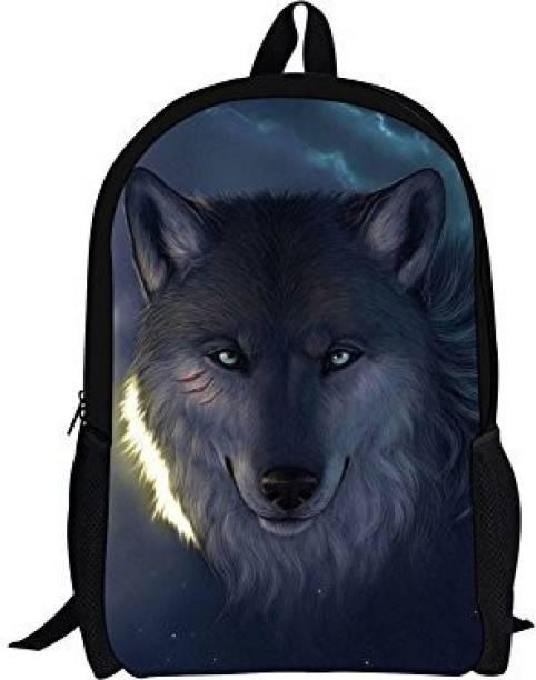 Hugs Idea Cool Grey Wolf Kids Backpack Zoo Animals School Bag for Teenagers  Boys 5 L 0097d30ff19e4