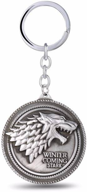 Optimus traders Game of Thrones House round Stark Winter Is Coming Metal Key Chain