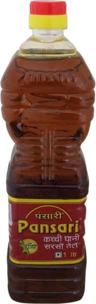 Pansari Kacchi Ghani Mustard Oil Plastic Bottle