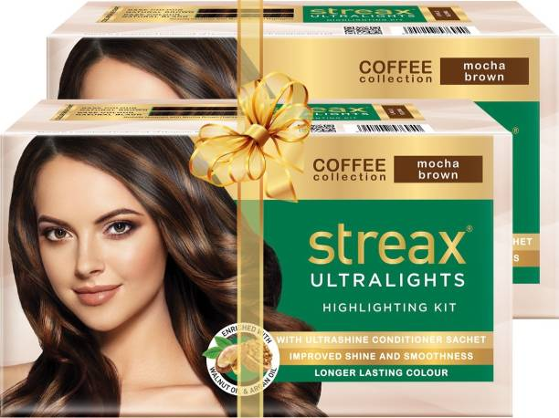 Streax Ultralights Highlighting Kit-Coffee Collection-Mocha Brown-Pack of 2 , Mocha Brown