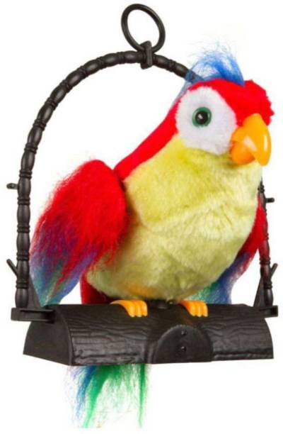 latest radhe Latest Multicolor Musical Talk Back Parrot