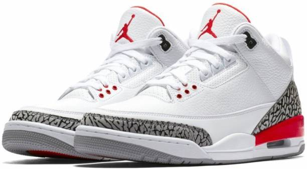 new style 70d59 f08b6 Air jordan JORDAN 3 RETRO KATRINA HALL OF FAME MEN S WHITE FIRE RED-