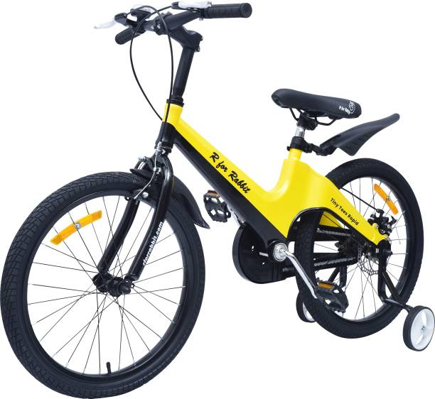 R for Rabbit Tiny Toes Rapid -Smart Kids Cycle with Plug and Play 7 to 10 Years(20 in)(Yellow) 20 T Road Cycle