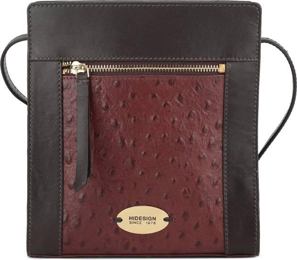 Hidesign Women Casual Brown Genuine Leather Shoulder Bag